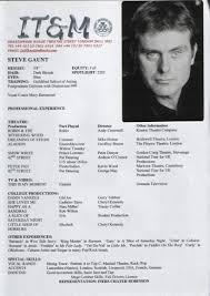 Resume Templates For Actors Zrom Tk Theater Tem Mychjp