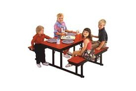 preschool cafeteria table bench units preschool lunch table l4 lunch