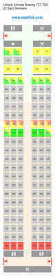 Boeing 737 700 Seating Chart United United Airlines Boeing 737 700 V2 73g Seat Map United