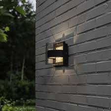 Lutec Delta Decorative W Exterior LED Up And Down Wall Light In - Exterior up down lights