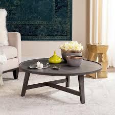 malone retro mid century wood dark gray coffee table