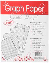 Amazon Com Crafters Helper Needlework Graph Paper 8 1 2 By 11 Inch