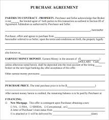 Purchase Agreement Samples Purchase Agreement 15 Download Free Documents In Pdf Word
