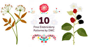 Embroidery Patterns Free Inspiration 48 Free Embroidery Patterns By DMC Hobbycraft Blog