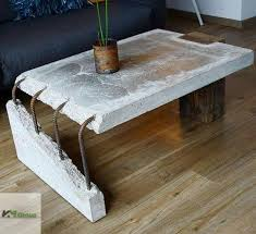 Give your living room a lift with this industrial modern coffee table. Concrete Slab Coffee Table Atbge