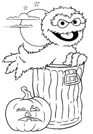 Print Oscar Sesame Street Halloween Coloring