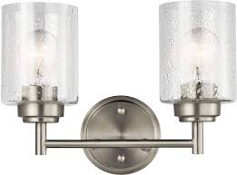 Kichler Winslow 2 Light Kichler Lighting 45885ni Two Light Bath From The Winslow Collection Brushed Nickel