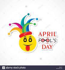 Vector Illustration von April Fools Day Schriftzug Text für die Grußkarte  Stock-Vektorgrafik - Alamy