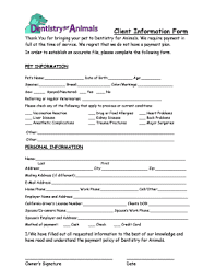 basic personal information form basic client information form fillable printable resume samples