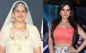 zareen khan made her screen debut in a leading role from the film veer opposite salman khan before entering in the film industry she was being very fat but