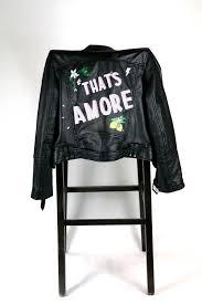 customised painting onto bespoke leather jacket