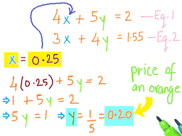 how to solve a system of two linear equations