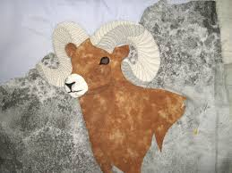 Quilted Art from Mary Katherine Hopkins: Big Horn Sheep ... & Now that I have all the features in, I can think about how much thread  painting this ram needs. Adamdwight.com
