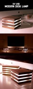 Modern Led Desk Lamppowered By 5v Usb Diy Woodworking