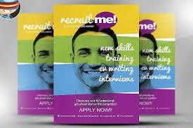 Recruitment Brochure Template 19 Recruitment Flyers Psd Ai Word Design Trends