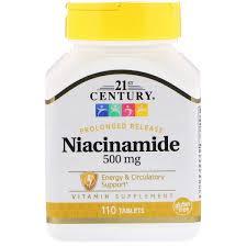 Витамин В3 Ниациномид, 21st Century Health Care, <b>500 мг</b>, <b>110</b> ...