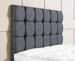 bedroom custom diy linen upholstered rectangular headboard design with black on ornaments white upholstered