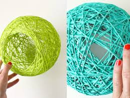 how to make giant yarn lampshades lanterns and globes made everyday