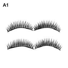 1 Pair 3D <b>Magnetic</b> False <b>Eyelashes</b> Reusable False Eye <b>Lashes</b> ...