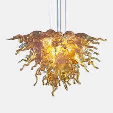 autumn sun small hand blown art glass chandelier