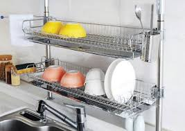 kitchen design get the dish rack off the counter so many ideas for hiding stacked over sink dish rack