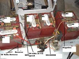 wiring diagram for 48 volt club car golf cart the wiring diagram here is the batteries and their numbers the full 36 volt wiring diagram