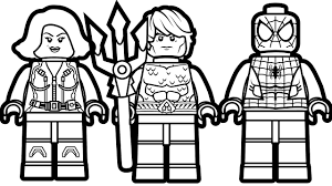 Small Picture Lego Spiderman and Lego Aquaman Lego Black Widow Coloring Book