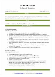 Sample Security Consultant Resume Security Consultant Resume Samples Qwikresume