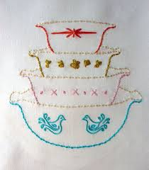 kitchen towel embroidery designs. this pdf pattern is part of the khg arts vignette series hand embroidery patterns. kitchen towel designs d