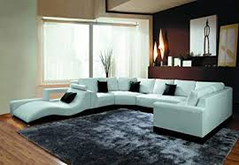 Modern leather sectional sofas Modern Power Reclining 2264b Modern White Leather Sectional Sofa Amazoncom Amazoncom 2264b Modern White Leather Sectional Sofa Kitchen Dining