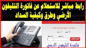 موعد دفع فاتورة التليفون الأرضي يوليو 2021 وطرق الدفع المختلفة - كورة في  العارضة