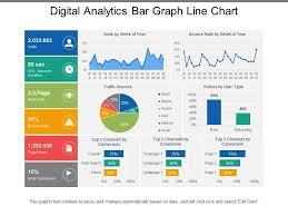 Chart Presentation Images Digital Analytics Bar Graph Line Chart Presentation