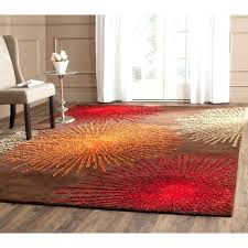 6 x 8 rug handmade burst brown new wool 5 foot by area rugs
