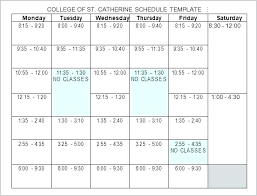 Free College Schedule Project Timetable Template Free Excel Construction Templates