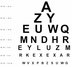 Printable Snellen Eye Chart Disabled World