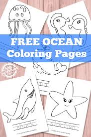 Ocean Coloring Pages Kids Activities Blog