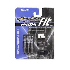 Nockturnal Fit Universal Size Blue Lighted Nock 3 Pack