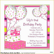2nd Birthday Invites Wording Elegant 51 2nd Birthday
