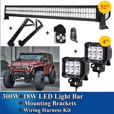 52 Inch Light Bar For Jeep Pin On 52 Inch Light Bar 4 Inch Pods Jk 07 15