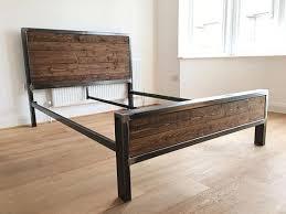 Steel Bed Frame in 2019 | furniture | Steel bed frame, Industrial ...