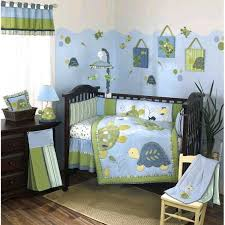 turtle reef 8 piece crib bedding set green emerald a green crib bedding