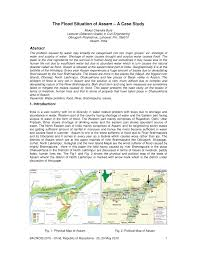 the flood situation of assam a case study pdf available