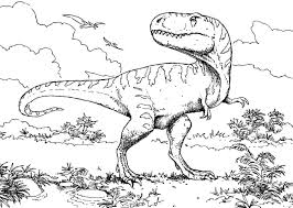 Coloring Pages Animal Dinosaurs Tyrannosaurus Rex