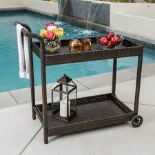 patio rolling drink cooler stainless cart outdoor