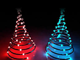 Light Tree Ppt Springy Christmas Tree With Lights Free Ppt Backgrounds For