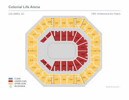 Colonial Theater Seating Chart Pbr January Seat Number Colonial Life Arena Seating