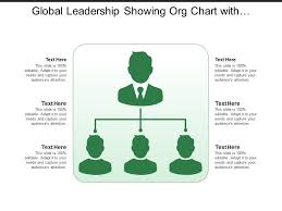 Global Leadership Showing Org Chart With Men Silhouette