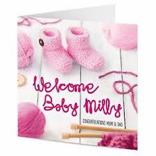 Personalised Congratulations New Baby Girl Newborn Announcement