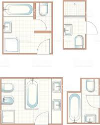 Bathroom Plan Bathroom Plans Stock Vector Art 165080294 Istock