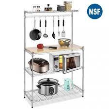 metal baker s rack organizer stand shelf kitchen microwave cart storage stand 0